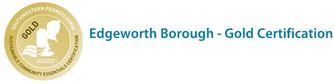 Edgeworth Borough - Gold Certification logo