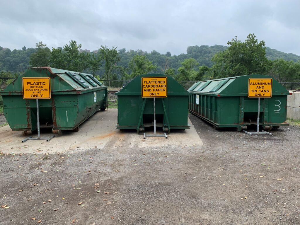 Edgeworth Borough Recycling Center - recycling sorting bins